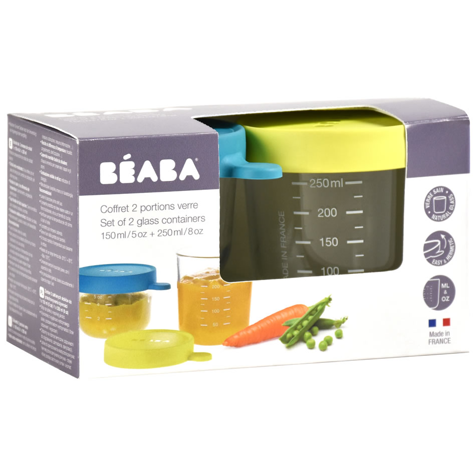 Beaba glass storage jars