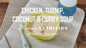 Chicken Turnip Coconut & Curry Soup
